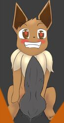 <3_eyes arcanine eevee female heart insertion kamperkiller_(artist) knot large_insertion large_insertion male nintendo penetration penis pokemon pussy_juice size_difference toon_physics video_games