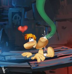 all_fours anal anal_sex barefoot crazedg cum doggy_style from_behind heart male male/male not_furry nude penetration rayman rayman_(series) sex solo tears tentacle video_games