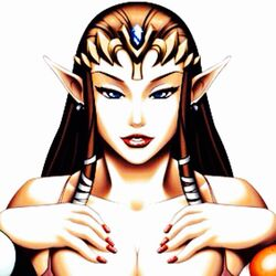 brown_hair edit jewelry large_breasts princess_zelda the_legend_of_zelda