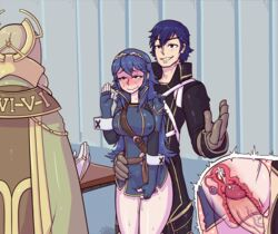 2015 2girls alternate_breast_size blue_eyes blue_hair blush breasts chrom cum cum_in_pussy emerina father_and_daughter fingerless_gloves fire_emblem fire_emblem:_kakusei gloves incest internal_cumshot large_breasts long_hair lucina multiple_girls penis pussy_juice sex short_hair stealth_sex straight tears tenk thetenk tiara uncensored vaginal_penetration x-ray