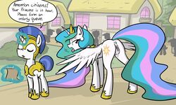 2015 alicorn anus bedroom_eyes cutie_mark english_text equine female feral friendship_is_magic hair half-closed_eyes horn in_heat long_hair mammal multicolored_hair my_little_pony open_mouth presenting princess_celestia_(mlp) public pussy pussy_juice royal_guard_(mlp) text tongue tongue_out whatsapokemon wings