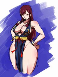 breast chun-li cleavage curvy large_breast rickert_kai solo street_fighter thick_thighs wide_hips