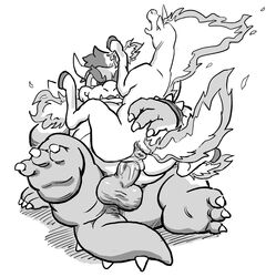 2015 anthro anthro_on_feral anus ass balls belly bowser claws cowgirl_position denim_(artist) digital_media_(artwork) duo equine erection eyebrows feet female feral fire greyscale hair hooves horn horse interspecies koopa lying male male/female mammal mario_bros monochrome nintendo on_back on_top penetration penis pokemon pussy pussy_juice rapidash scalie sex simple_background teeth thick_eyebrows vaginal_penetration vaginal_penetration video_games white_background zoophilia