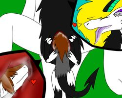 3_toes anthro brown_hair claws darkrainbowdragon dragon fur hair headshot inside katha macro scalie size_different sizedifferent slavia toes tongue unbirthing vore