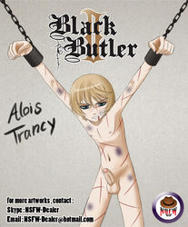 alois_trancy black_butler male male_only nude solo torture violence