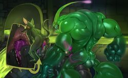anal anus ass balls dragon eyewear goggles goo group group_sex justmegabenewell league_of_legends male mammal oral penetration penis rat rimming rodent saliva sex tabek_musa threesome twitch video_games zac