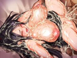 bed breasts brown_eyes censored cum cum_in_pussy cum_on_breasts cum_on_clothes cum_on_hair cum_on_lower_body cum_on_pussy cum_on_upper_body dead_or_alive facial female g_kilo-byte huge_breasts lying momiji_(ninja_gaiden) ninja_gaiden open_mouth penis pussy saberfish sagging_breasts sex shiny_skin solo_focus vaginal_penetration