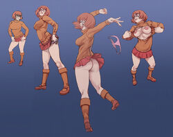 ass breasts brown_hair female glasses hanna_barbera jjfrenchie montage nipples no_panties nude painted_nails panties pink_panties red_nails scooby-doo scrappy-doo smile stripping striptease tagme torn_clothes velma_dinkley