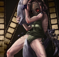 female film_strip mask masturbation painwheel pussy_juice quietvice red_eyes skin_tight skullgirls solo tagme