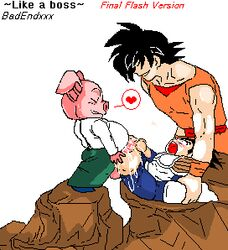 ahegao anal anal_lips anal_penetration animated anthro badendxxx balls balls_deep cum cum_explosion cum_in_ass cum_inside dangling_testicles edit enduring_face excessive_cum fat_man flaccid fucked_silly gay goku grin heart huge_penis interspecies malesub muscular overflow pale_skin penis piccolo piccolo_dick pig rape restrained size_difference testicles vegeta yaoi