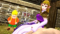animated clothed_female_nude_male handjob morshu princess_zelda source_filmmaker the_legend_of_zelda