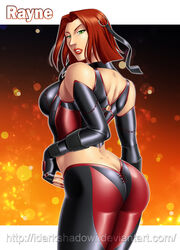 ass big_ass bloodrayne green_eyes rayne red_hair sideboob thedarkness vampire