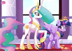 2girls crown equestria_untamed female friendship_is_magic my_little_pony princess_celestia_(mlp) tagme twilight_sparkle_(mlp)