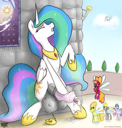 alicorn augustbebel cock_vore dickgirl equine female friendship_is_magic furry_only horn horse insertion intersex mammal my_little_pony penetration penis pony princess_celestia_(mlp) rainbow_dash_(mlp) urethral urethral_insertion urethral_penetration vore wings