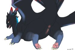 anus ass dragon feral how_to_train_your_dragon night_fury pawpads paws presenting pussy scalie syntex toes torry_(nightfury) wings zeetyphlosion