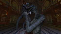 2015 3d anthro anthrofied argonian big_breasts big_dom_small_sub breasts cgi cum cum_in_mouth cum_inside cum_on_tongue cumshot digital_media_(artwork) domination duo fellatio female female_domination fox_whisper85 humanoid_penis larger_female male non-mammal_breasts nude oral orgasm penis reptile scales scalie sex size_difference skyrim smaller_male source_filmmaker the_elder_scrolls tongue video_games