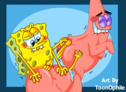 ass buttjob gay homosexual male/male males patbob patrick_star penis spongebob_squarepants toonophile yaoi