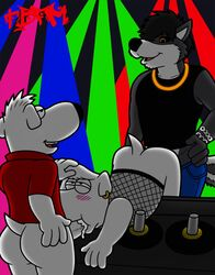 anal anal_sex ass brian_griffin canine canine club_(disambiguation) deke family_guy glowstick incest jasper_(family_guy) male male/male mammal penetration penis public sex skunk smile tbfm