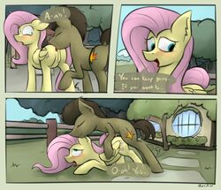 anal dailogue female fluttershy_(mlp) male marsminer my_little_pony oral outside rimming sex straight theotakux