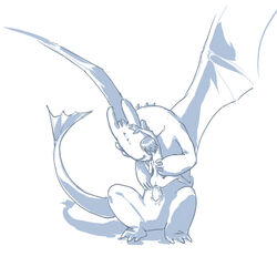 anal anal_sex bite closed_eyes dragon dreamworks duo erection feral hiccup_(httyd) how_to_train_your_dragon human human_on_feral idrawgayboys interspecies male male/male mammal night_fury nude penetration penis scalie sex simple_background sitting toothless white_background zoophilia
