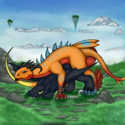 dragon how_to_train_your_dragon male male/male night_fury toothless yinyangwolf12