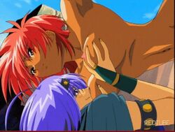 animated breast_grab breast_sucking captured cunnilingus defeated game_over pully rape spoils suspended teamwork tomboy vrign warrior yuri
