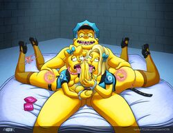 alex_whitney ball_fondling big_penis chief_wiggum cop fellatio female fingering handcuffs ho7ik human lisa_simpson male police policewoman saliva straight the_simpsons threesome