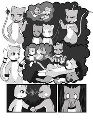 anthro bondage brother brother_and_sister challenge challenge_accepted closed_eyes collar comic crying darkmirage deal defeat determination digitigrade domination dragonair dragonchu dragonchu_(character) drooling fakémon female female_domination fur greyscale handshake hindpaw hybrid leash lying maid maid_uniform male mammal mew monochrome multiple_tails nintendo nude open_mouth original_character paws pikachu pokemon punch rodent saliva servant shocked sibling sis's_gamble sis_(fyoshi) sister slave sleeping sofa surprise tears tongue tongue_out uniform video_games wristband