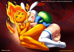 2girls adventure_time fionna flame_princess tagme yuri yuri_haven