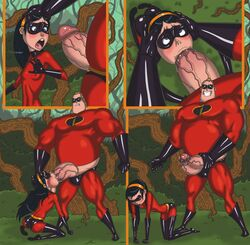 delicious_flat_chest father_and_daughter fellatio flat_chest incest large_penis mnogobatko penis rape robert_parr saliva the_incredibles violet_parr