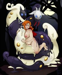 anal barefoot breasts cosplay double_penetration feet forest freckles glasses halloween hybrid kindred league_of_legends mask moon orange_hair pokemon pokephilia snake toes vaginal_penetration witchofavalon