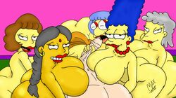 big_ass big_breasts big_dick edna_krabappel female harem helen_lovejoy human luann_van_houten male manjula_nahasapeemapetilon marge_simpson maude_flanders maxtlat milf straight the_simpsons