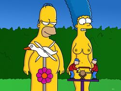 breasts homer_simpson marge_simpson nude the_simpsons wvs1777