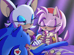 amy_rose angelofhapiness fellatio female male male/female oral rouge_the_bat sex sonic_(series) sonic_the_hedgehog
