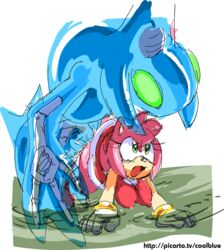 amy_rose breasts chaos clothed coolblue female sonic_(series) vaginal_penetration