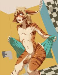 anthro balls bathroom fur male male_only penis shower solo tagme tatsumichi