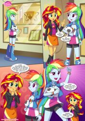 2girls equestria_girls equestria_untamed friendship_is_magic humanized my_little_pony physical_education rainbow_dash_(mlp) sunset_shimmer tagme