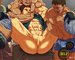 4boys abs anus ass bara blood chris_redfield keropon male_focus monster multiple_boys muscle nipples pecs penis rape resident_evil restrained scar tagme testicles torn_clothes undressing yaoi zombie