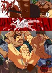 5boys abs anal anus ass bara blood chris_redfield cum keropon male_focus mask monster multiple_boys muscle nipples pecs penis rape resident_evil restrained scar tagme testicles torn_clothes undressing wince yaoi zombie