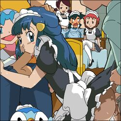 anal ash dawn_(pokemon) fellatio maid netorare piplup pokemon satoshi_(pokemon) spitroast sweat