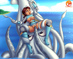 beauty_mark blue_eyes bound breasts brown_hair cephalopod crossover disney duo female female_on_feral feral forced hair human human_on_feral interspecies mammal marine penetration penny_proud power_rangers proud_family pussy pussy_juice rape reit restrained sea spread_legs spreading squid tears tentacle tentacle_rape vaginal_penetration water zoophilia