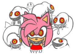 amy_rose blush boom_boo clothes drool female female_only femsub ghost ghost_tentacle hedgehog hedgehog_girl king_boom_boo marthedog mind_control pink_hair possession red_eyes sega smile sonic_(series) tentacle video_games white_tentacle