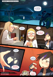 2girls baymax big_hero_6 comic disney female gogo_tomago honey_lemon sillygirl speech_bubble