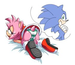 amy_rose coolblue cum female masturbation panties pussy sonic_(series) sonic_the_hedgehog