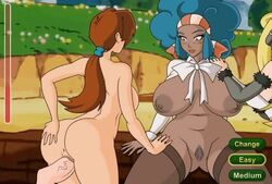 animated anus ass breasts delia_ketchum female flash_game hair humanoid male nipples sex straight