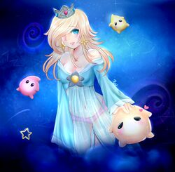 luma pink_panties princess_rosalina super_mario_bros. super_mario_galaxy transparent_robe