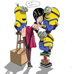 despicable_me female foursome from_behind male minions scarlet_overkill straight