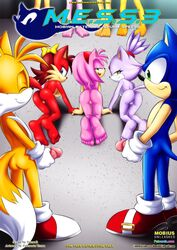 3girls amy_rose blaze_the_cat fiona_fox furry furry_only mess_3 mobius_unleashed tagme