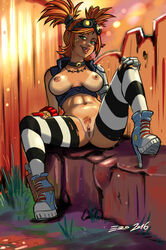 borderlands borderlands_2 breasts gaige high_heels nipples psicoero pussy thighhighs