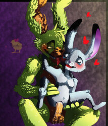 2016 absurd_res animatronic anthro balls breasts cum cum_inside cum_leaking cute digital_media_(artwork) disney dripping duo erection fan_character female fur green_fur grey_fur heart hi_res hiyoko judy_hopps lagomorph machine male mammal nude penetration penis rabbit robot sex simple_background smile tears teeths tongue vaginal_penetration video_games zootopia